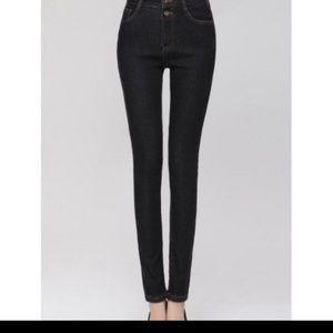 Denim - Women's Thick Skinny Jeans